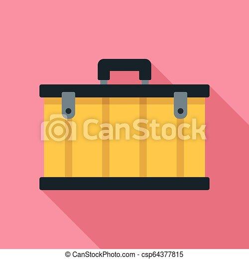 Tool box icon, flat style - csp64377815