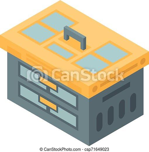 Tool box icon, isometric style - csp71649023