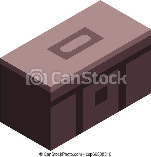 Tool box icon, isometric style - csp66538510