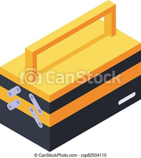 Tool box icon, isometric style - csp82504110