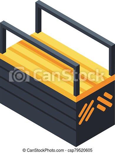 Tool box icon, isometric style - csp79520605