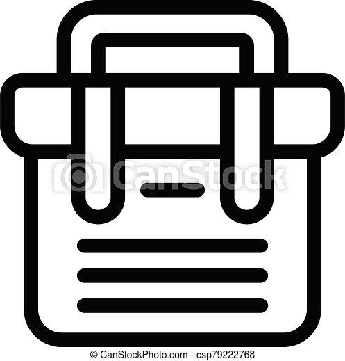 Tool box icon, outline style - csp79222768