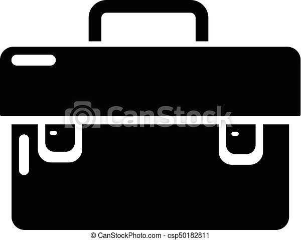 Tool box icon, simple black style - csp50182811