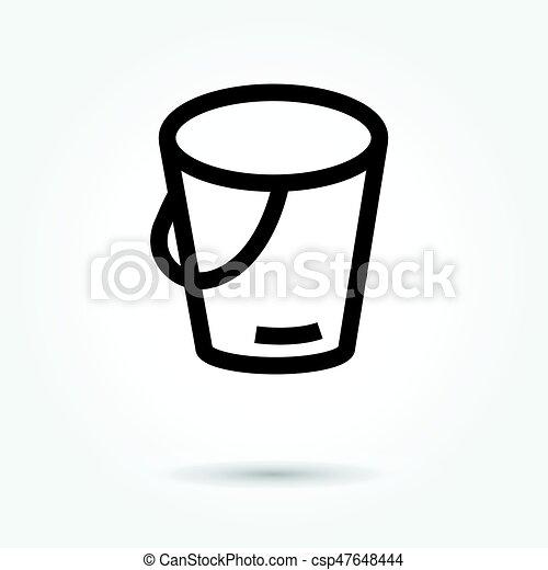 tool Bucket icon, modern design web element on white background. logo - csp47648444