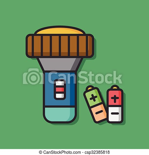 tool flashlight vector icon - csp32385818