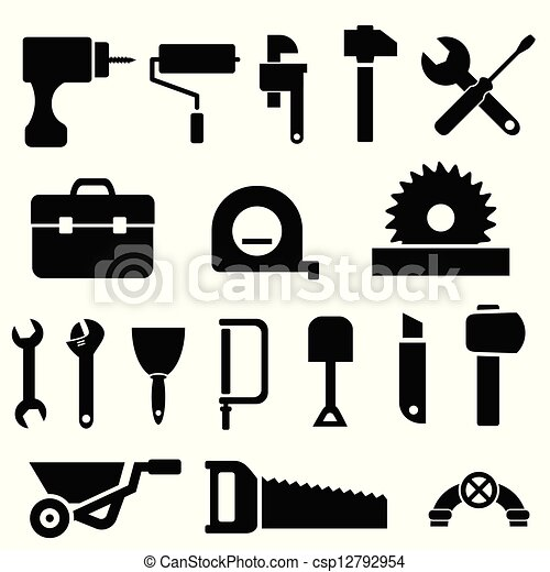 Tool icons in black - csp12792954