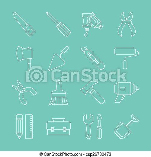 Tool line icon set - csp26730473