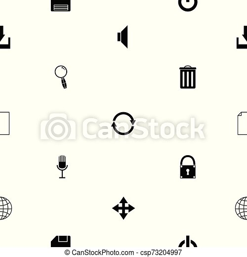 toolbar seamless pattern background icon. - csp73204997