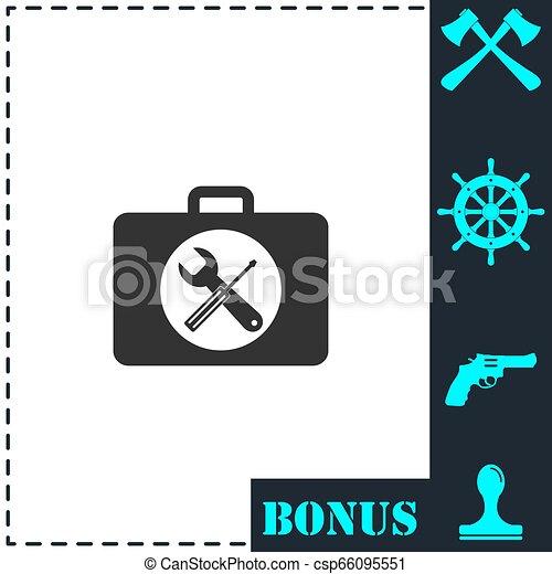 Toolbox icon flat - csp66095551
