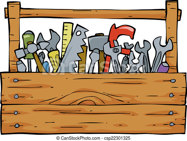 toolbox on a white background vector illustration rh canstockphoto com toolbox clipart free toolbox clipart images