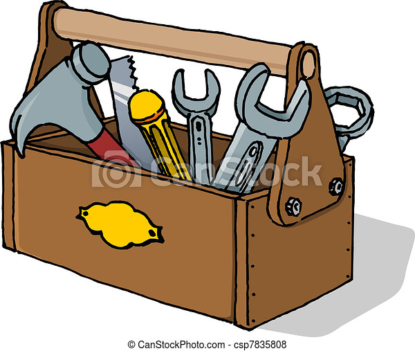 toolbox vector illustration scalable vector illustration of rh canstockphoto com empty toolbox clipart toolbox clipart black and white