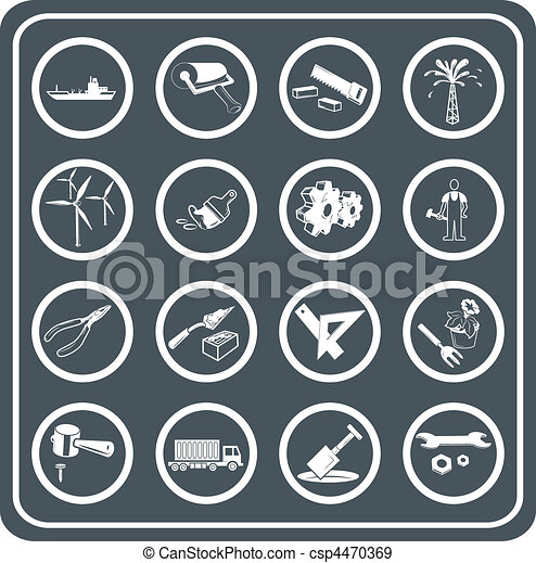 Tools and industry icon set  - csp4470369