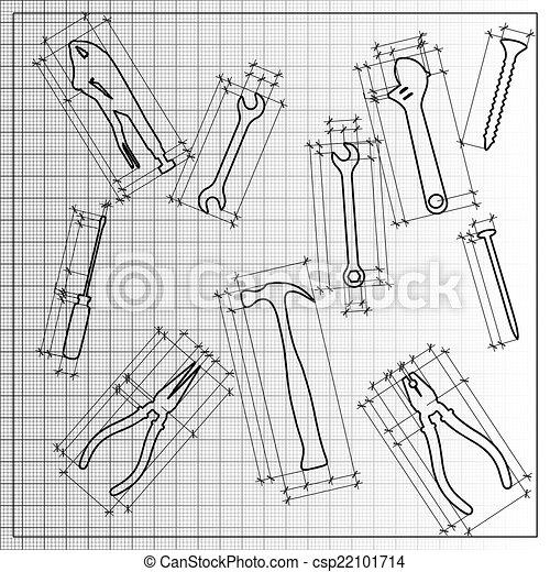 Tools blueprint sketch - csp22101714