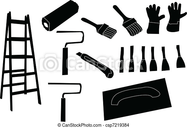 tools for painting - vector - csp7219384