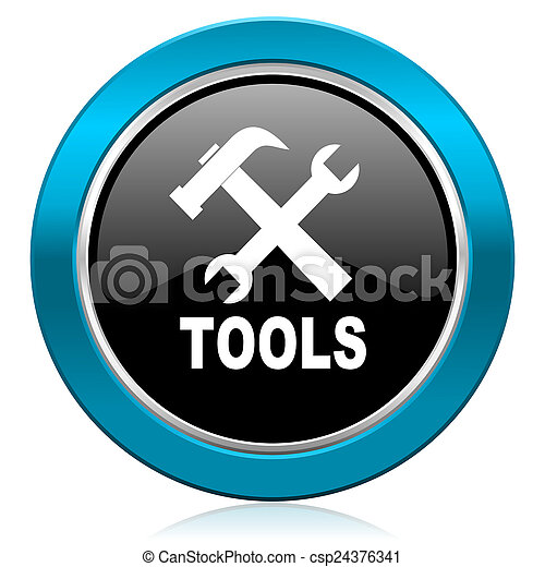 tools glossy icon - csp24376341