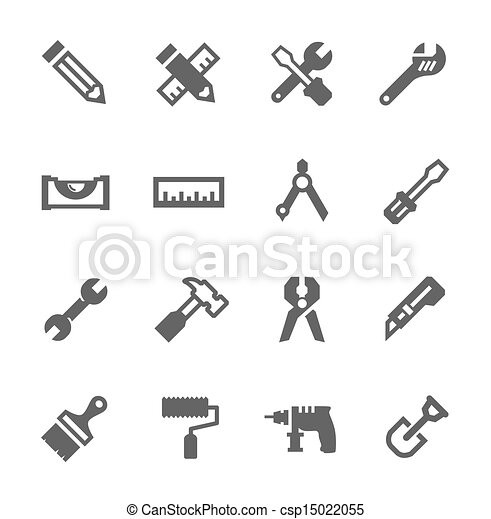 Tools icon set - csp15022055