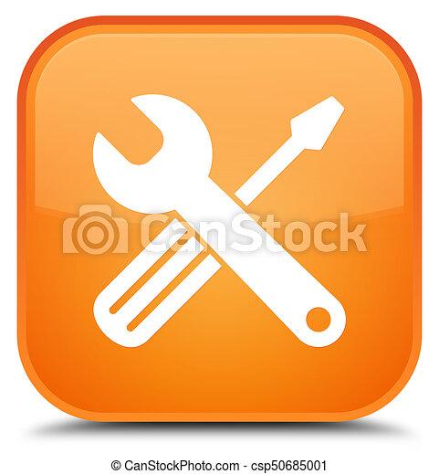 Tools icon special orange square button - csp50685001