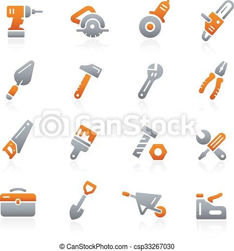 Tools Icons -- Graphite Series - csp33267030
