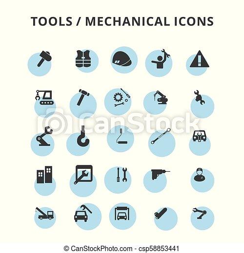 tools icons set - csp58853441