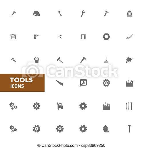 Tools icons. vector illustration - csp38989250