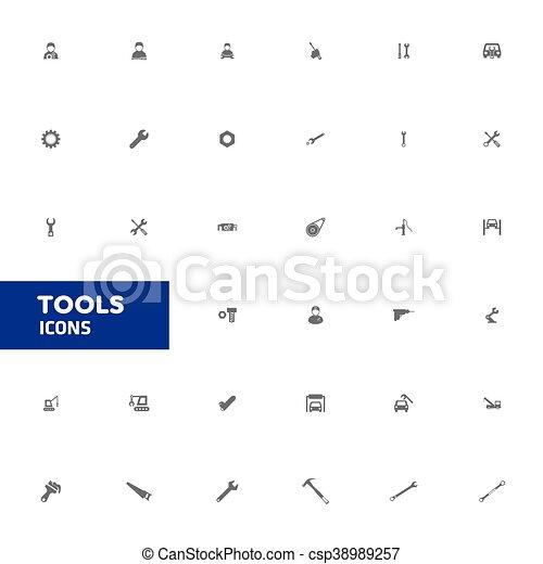 Tools icons. vector illustration - csp38989257