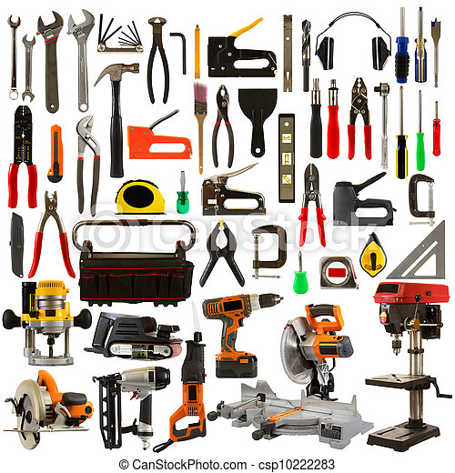 Tools Isolated on a White Background - csp10222283