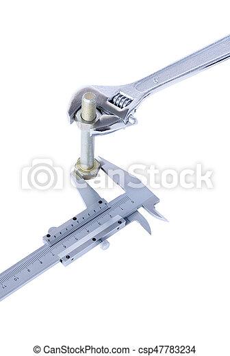 Tools on white background - csp47783234