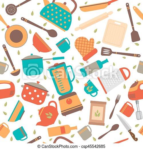 Fondo Cocina | Tools Patron Cocina Seamless Utensilios Plano De Fondo Cocina