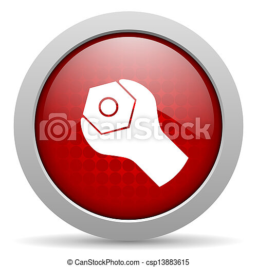 tools red circle web glossy icon - csp13883615