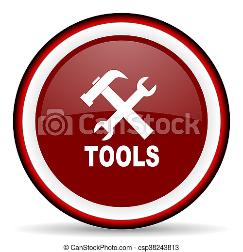 tools round glossy icon, modern design web element - csp38243813