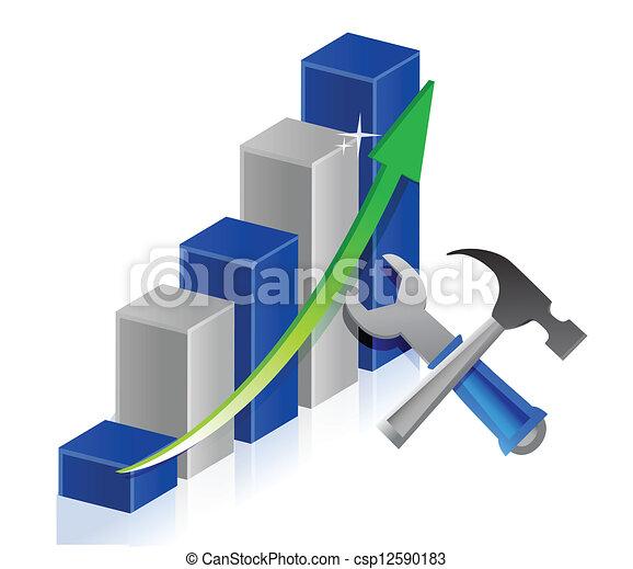 tools to success illustration - csp12590183