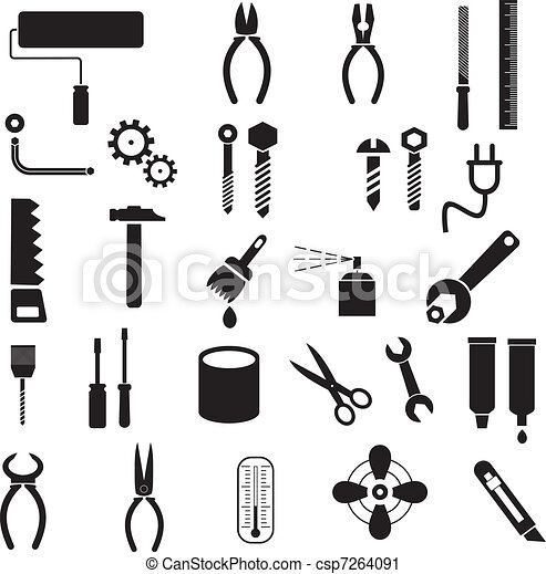 Tools - vector icons - csp7264091