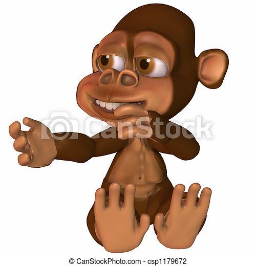 toon, 猿 - csp1179672