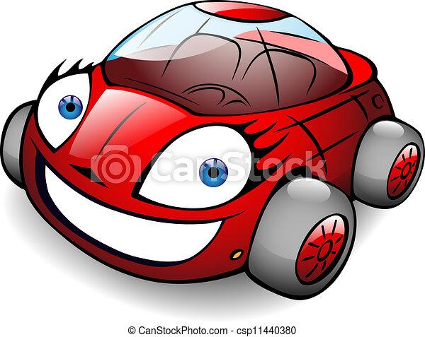 toon, car, vetorial, feliz - csp11440380