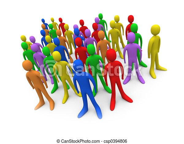 Toon Crowd #2 - csp0394806