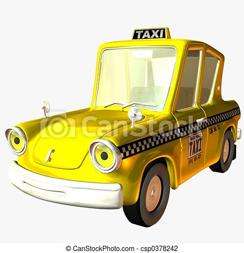 Toon voiture taxi render 3d - Coloriage cars toon ...