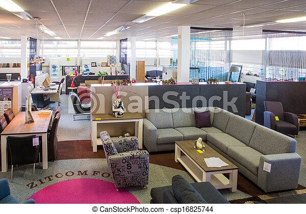 toonzaal, moderne, winkel, meubel - csp16825744