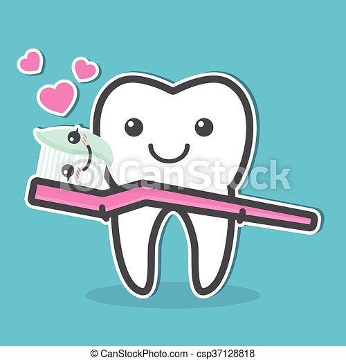 Cute Toothbrush Drawing Tooth and tooth...