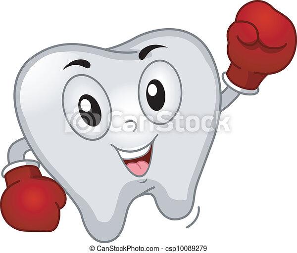 Tooth Boxer Mascot - csp10089279