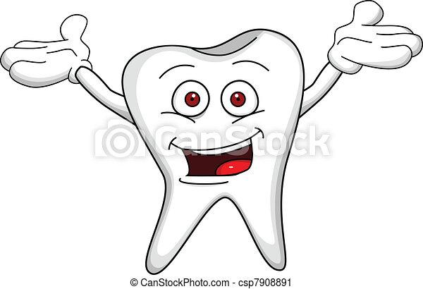 Tooth cartoon character - csp7908891