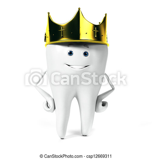 Tooth character - csp12669311