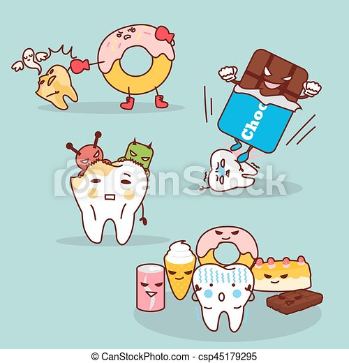 tooth decay with health problem - csp45179295