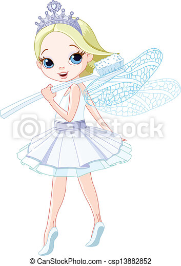 tooth fairy cute smiling tooth fairy with toothbrush rh canstockphoto com tooth fairy clipart images tooth fairy clipart f