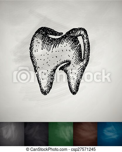 tooth icon - csp27571245