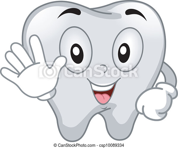 Tooth Mascot - csp10089334