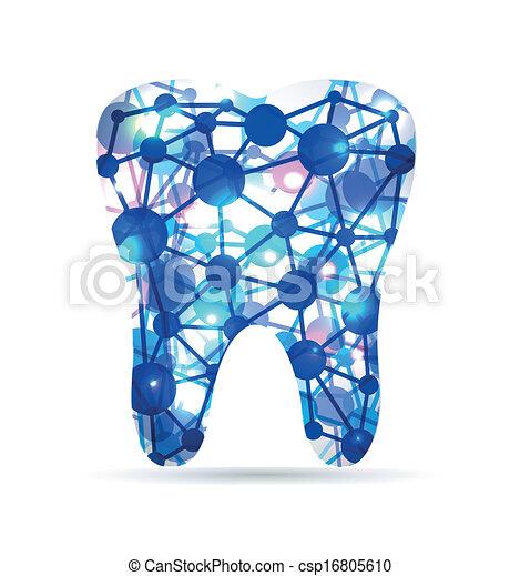 Tooth of molecules - csp16805610