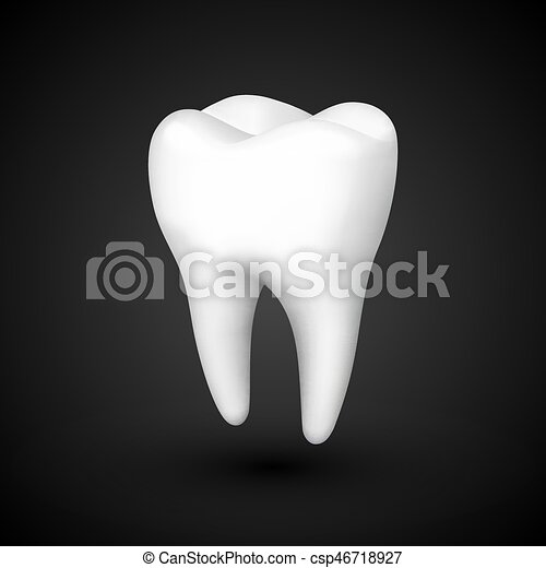 Tooth On A Black Background Template Design Element Vector