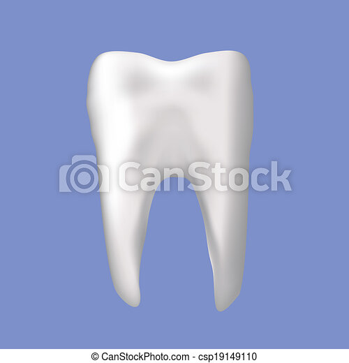 tooth on a blue background - csp19149110