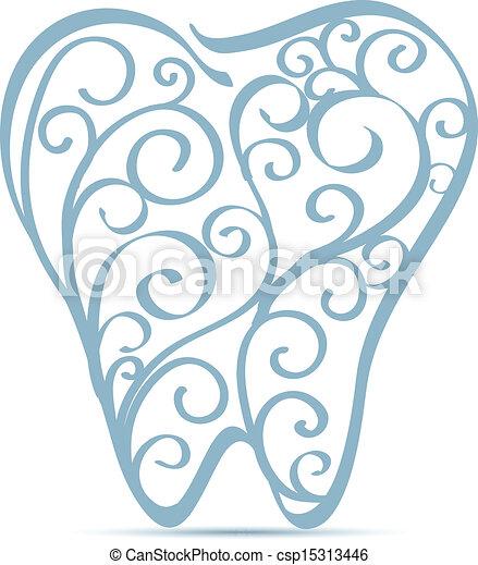 tooth ornamental design - csp15313446