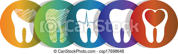 Tooth symbol set - csp17698648